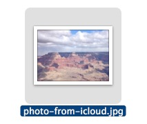 An example photo downloaded from iCloud