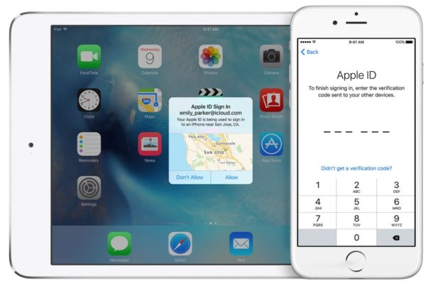 Two factor authentication for Apple ID
