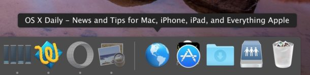 Add a website shortcut to the Dock on Mac OS X