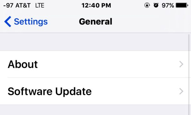 Software Update on iOS