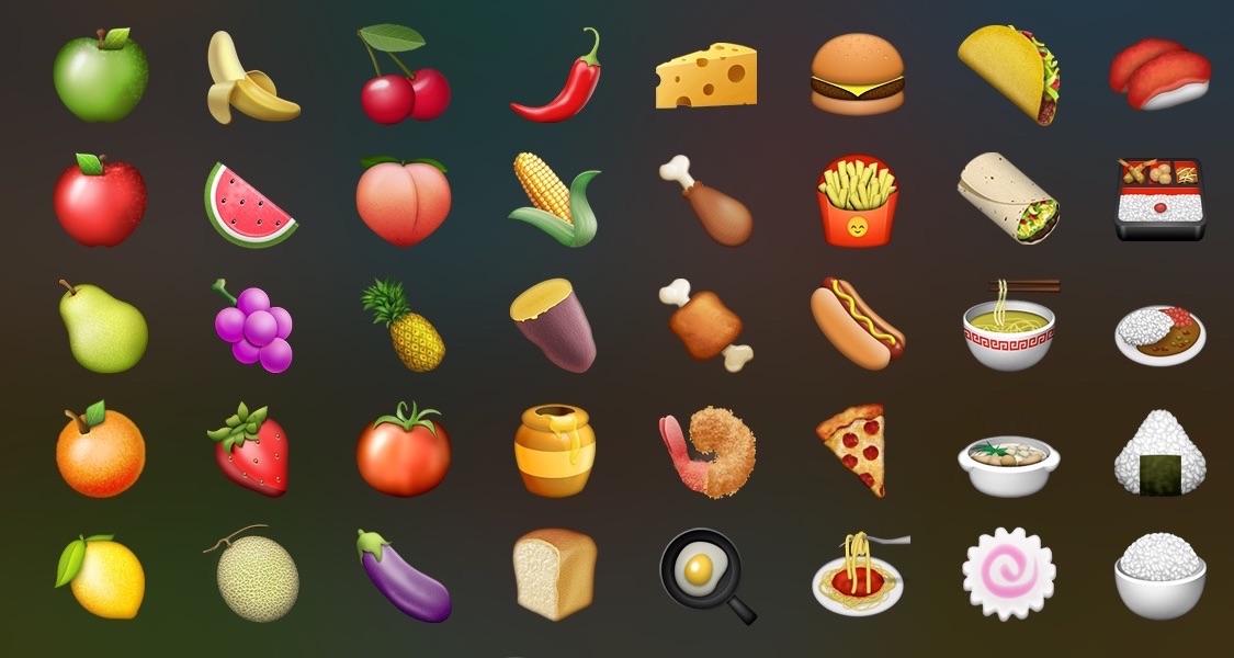 Эмоджи картинки для распечатки еда