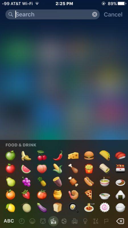 Emoji Search in Spotlight