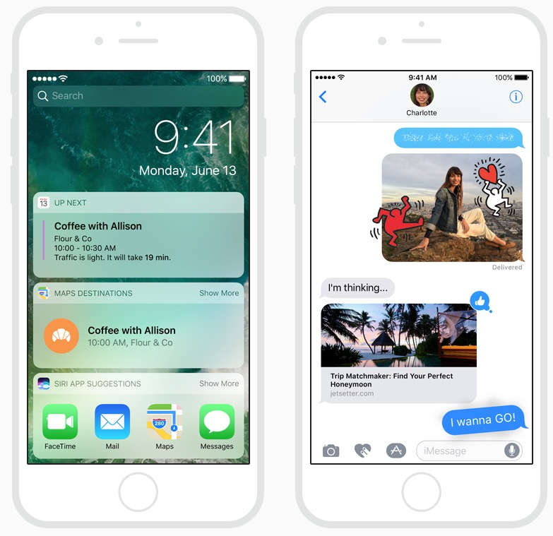 iOS 10 screenshots