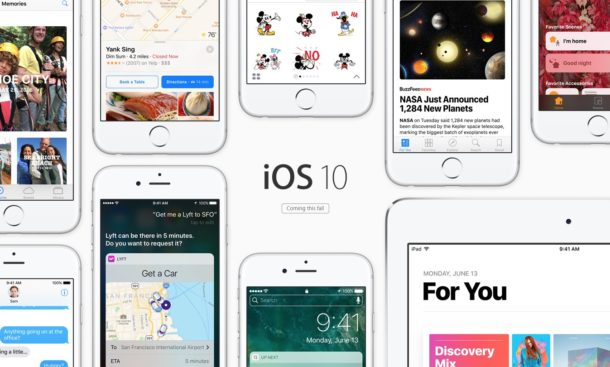 iOS 10 supports a wide range of hardware