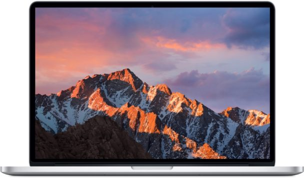 MacOS Sierra Default Wallpaper on a MacBook Pro