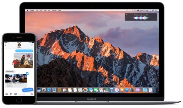 MacOS Sierra and iOS 10