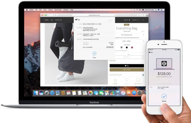 Apple Pay on Mac via web