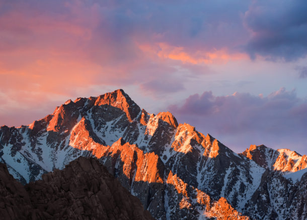 MacOS Sierra default wallpaper