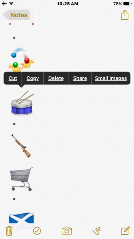 Copy an Emoji icon picture for sending