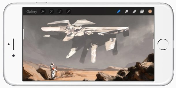 Procreate painting app for iPhone