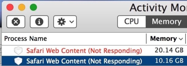 Safari web content not responding fixes for Mac