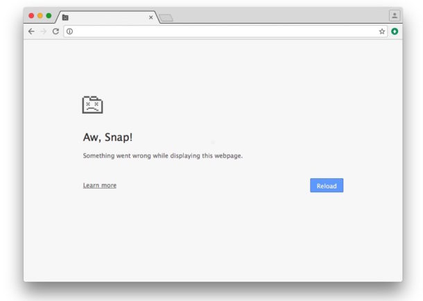 How to fix Aw Snap error crash in Chrome
