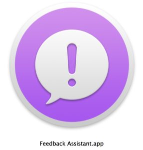 Feedback Assistant on Mac