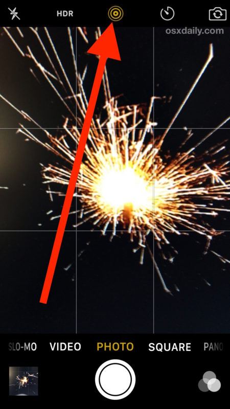 Take Live Photos on iPhone camera of things like fireworks to capture action
