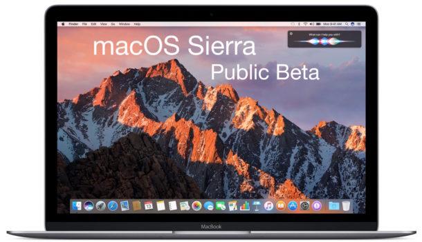 MacOS Sierra Beta