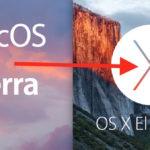 Downgrade MacOS Sierra to OS X El Capitan