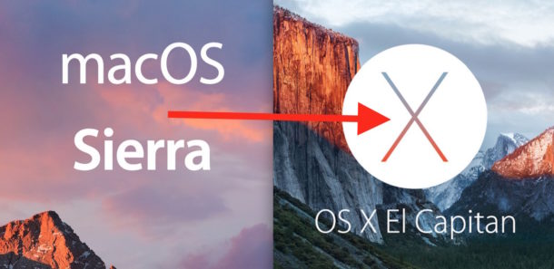 Downgrade MacOS Sierra to OS X El Capitan