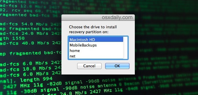 Make Recovery Partition on Mac