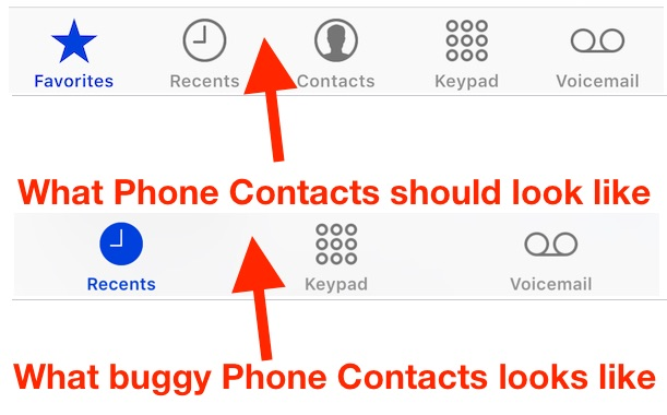 iphone contacts missing iphone contacts disappeared how to fix missing phone 5571