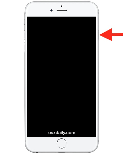Power Button location on iPhone