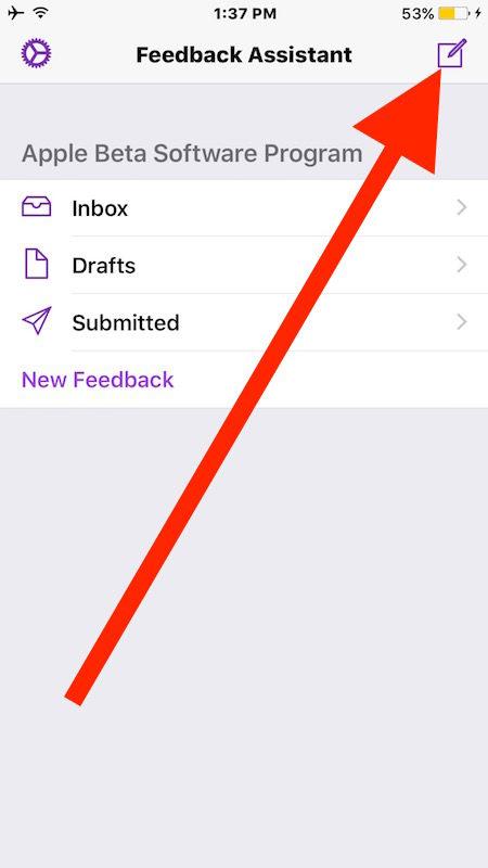 Create new iOS 10 feedback