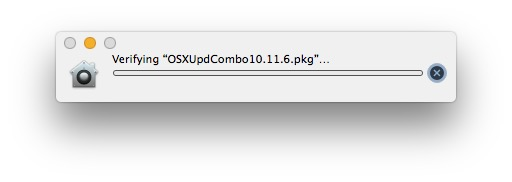 Stuck verifying pkg update in Mac OS X