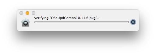 Stuck verifying pkg update in Mac OS X