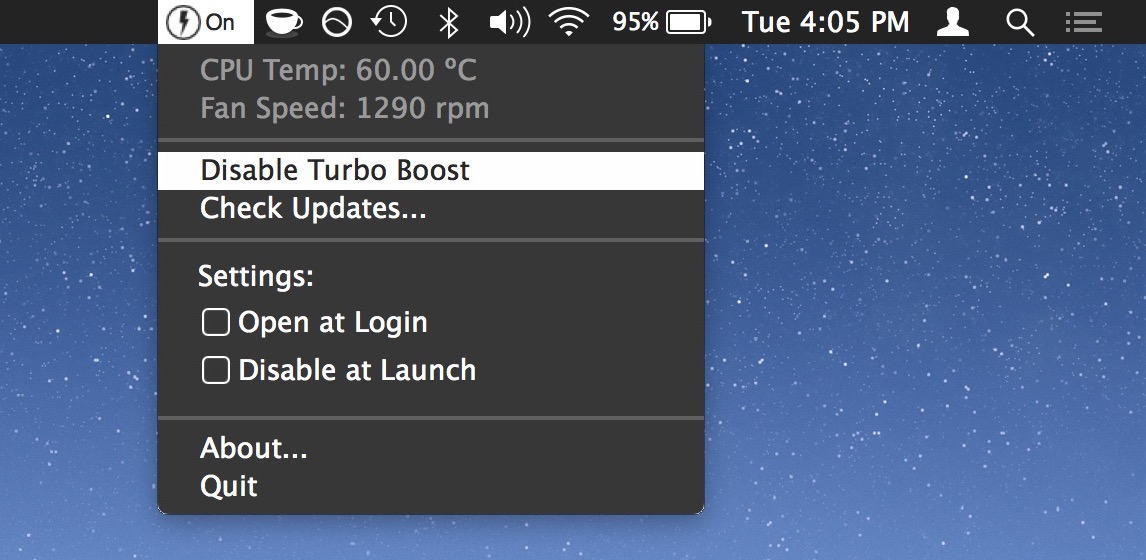 How to Disable Turbo Boost on Mac