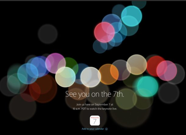 Apple September 7 2016 event