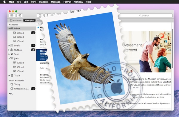 Check new email on Mac