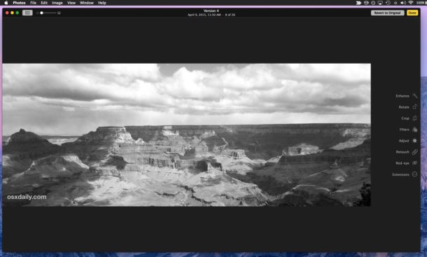 Copy and paste photo adjustments on Mac