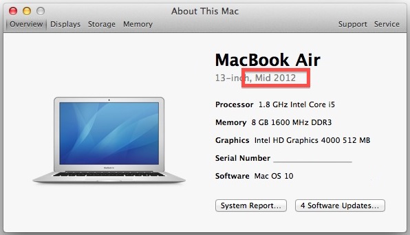 Get model year of Mac
