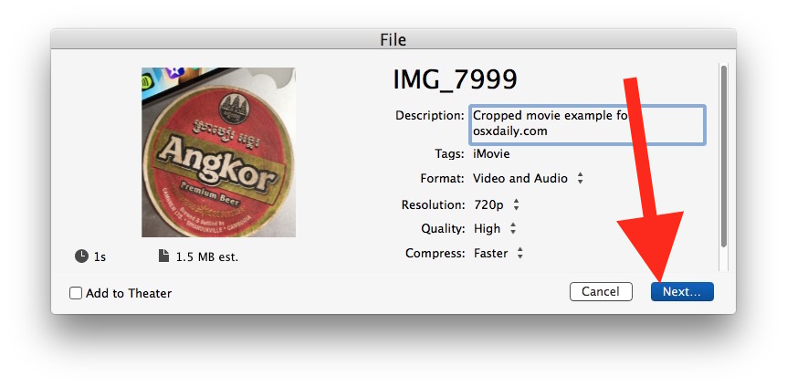 How to crop a video on Mac with iMovie