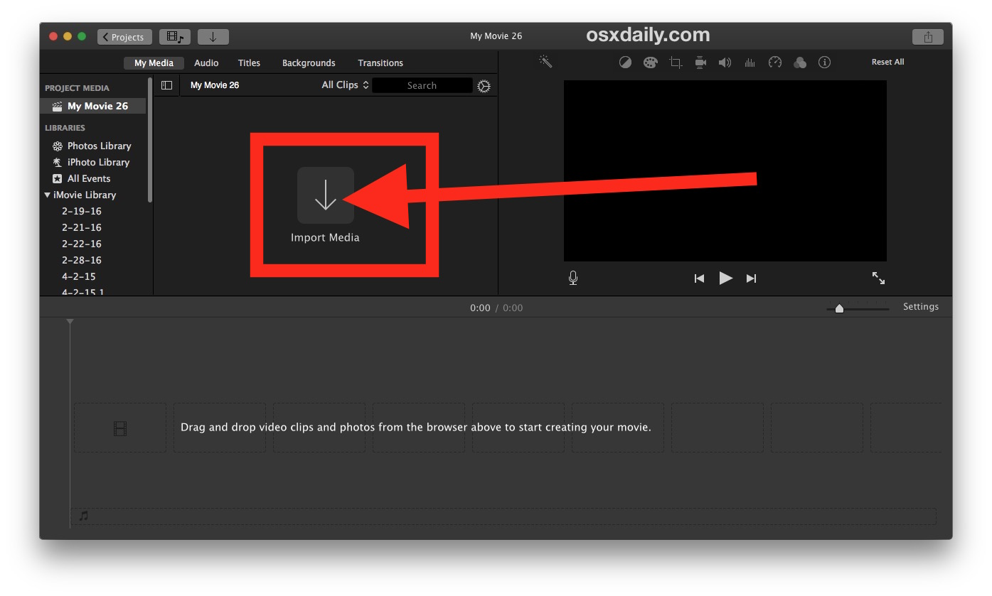 How to crop a video on Mac with iMovie 3