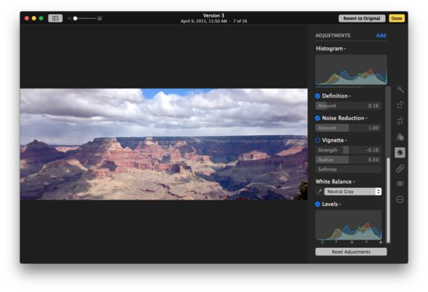 Advanced image editing options in Photos for Mac