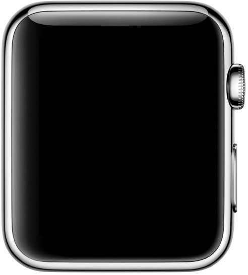 A powered off Apple Watch is achieved by turning off the device