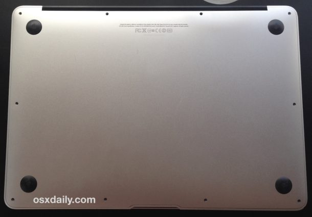 MacBook Air closed up with new SSD installed