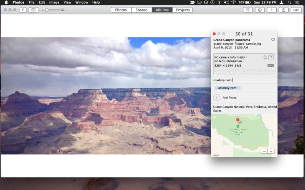Remove geographic location from Photos on Mac