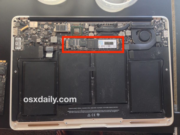Replaced SSD on MacBook Air installed