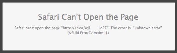 Safari cant open page fix