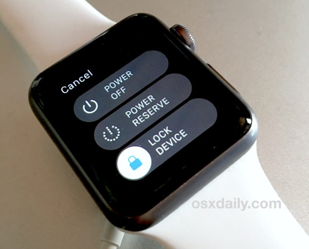 Choose to Power Off the Apple Watch to turn it off