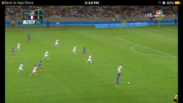 Watch Olympics live on iPhone