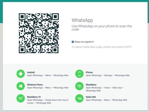 WhatsApp QR code scanner