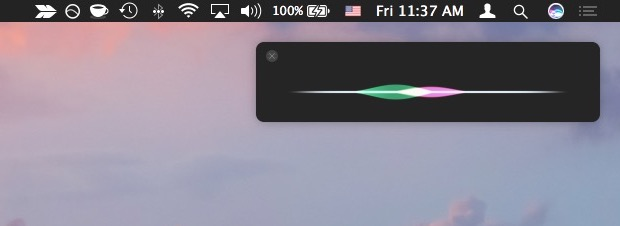 Access Siri on Mac