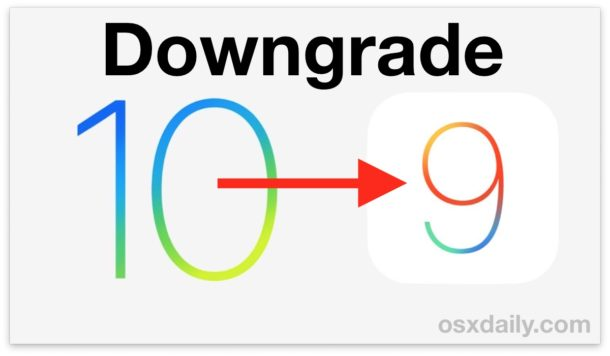 How to Downgrade iOS 10