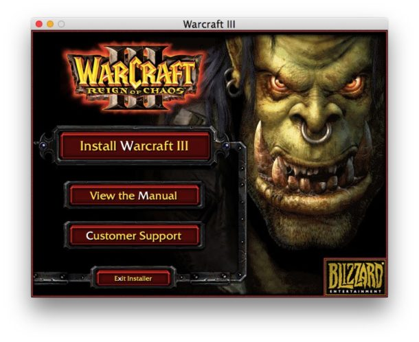 Install Warcraft 3 on Mac