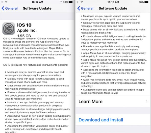 iOS 10 GM Download and Install