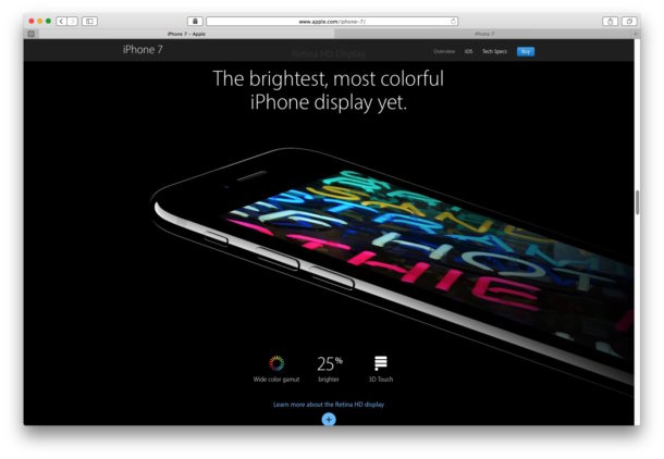 iPhone 7 display brightness is brighter than ever according to Apple, if it looks dim it may be software