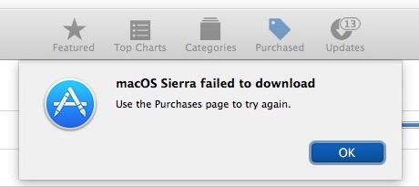 Sierra failed to download