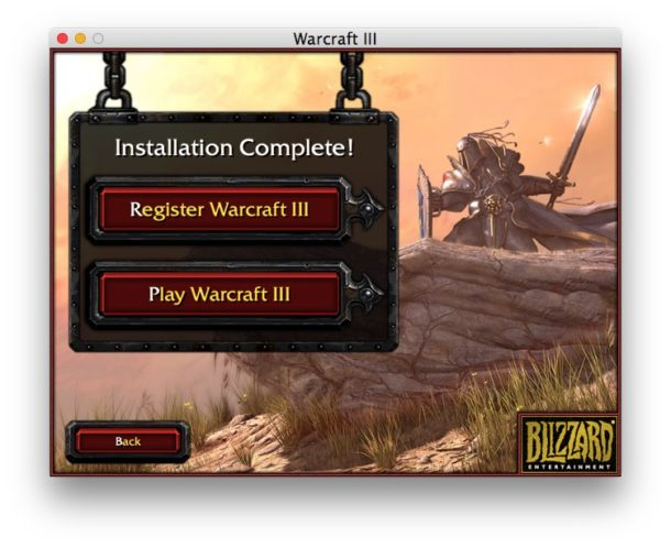 Play warcraft 3 on Mac